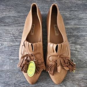NEW Paul Green Diana Kiltie Fringe Brown Loafer
